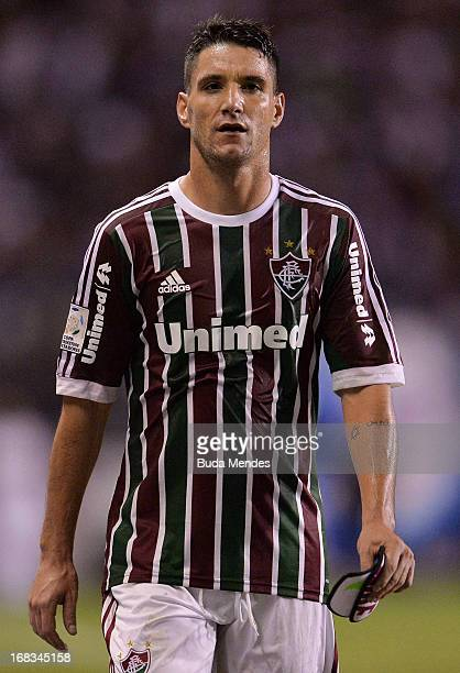 Thiago Neves of Fluminense fights for the ball during the match between Fluminense and Emelec as part of Libertadores Cup 2013 at Sao Januario...