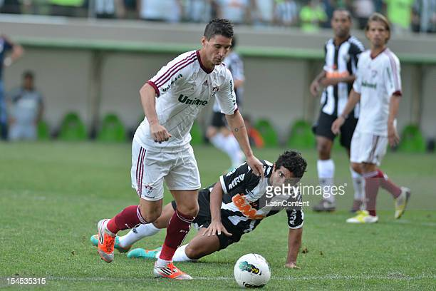 Thiago Neves of Fluminense in action during a match between Atletico MG and Fluminense as part of Campeonato Brasileiro 2012 at Estadio Independencia...