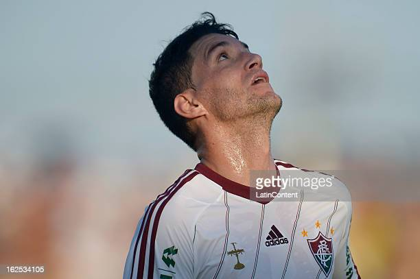 Thiago Neves of Fluminense looks on during the match between Fluminense and Madureira as part of the Carioca Championship 2013 at Bonita Stadium on...
