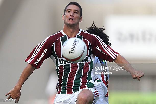 Thiago Neves of Fluminense struggles for the ball during the final match Fluminense v Vasco as part of Rio State Championship 2012 at Engenhao...