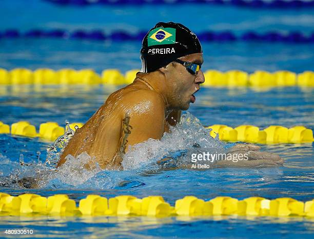 Thiago Pereira of Brazil swims during the Men's 400m Individual Medley heats at the Pan Am Games on July 16 2015 in Toronto Canada