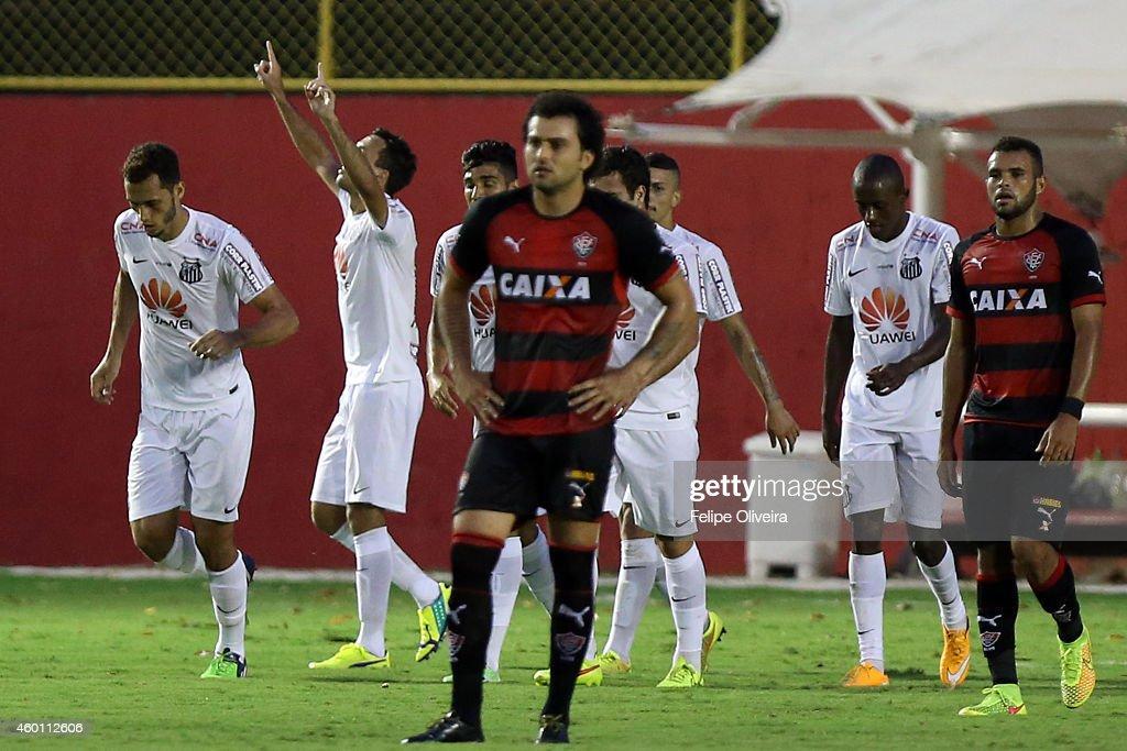 Vitoria v Santos - Brasileirao Series A 2014