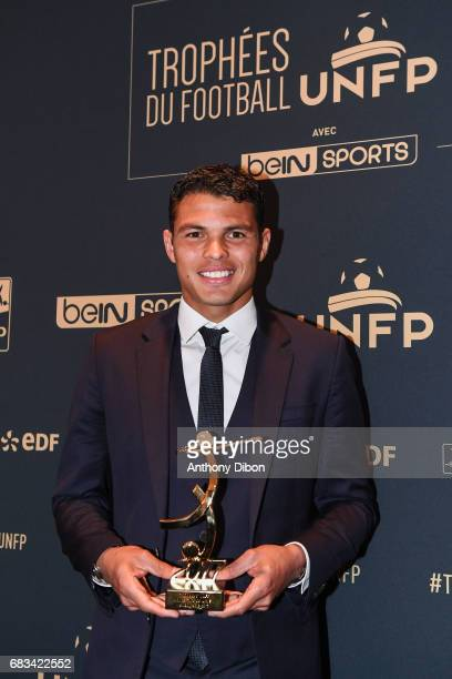 Thiago Silva of PSG during the ceremony for the UNFP Trophy Awards on May 15 2017 in Paris France
