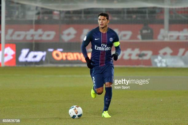 Thiago Silva of PSG during the Ligue 1 match between Dijon DCO and Paris Saint Germain at Stade Gaston Gerard on February 4 2017 in Dijon France