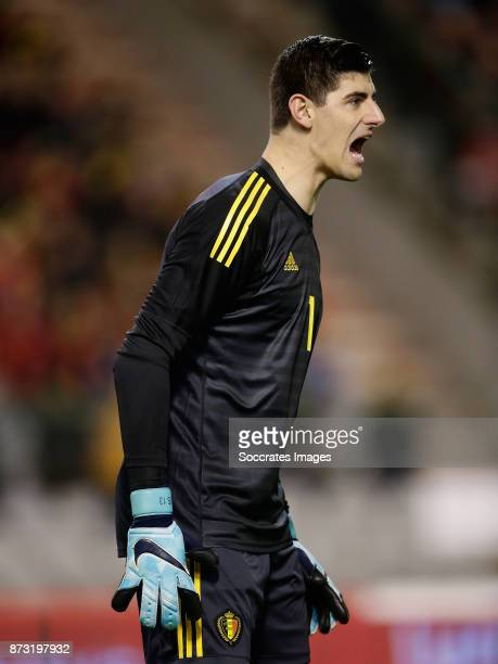 Thibault Courtois of Belgium during the International Friendly match between Belgium v Mexico at the Koning Boudewijnstadion on November 10 2017 in...