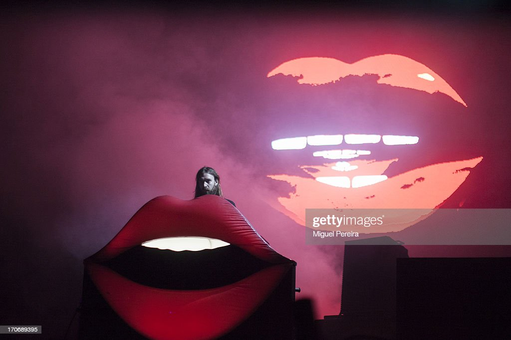 Thibaut Berland (Breakbot) performs on stage at Sonar on June 15, 2013 in Barcelona, Spain.