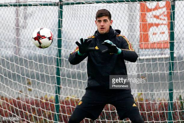 Thibaut Courtois goalkeeper of Belgium during the press conference and training session of the Red Divels at the national training center on November...