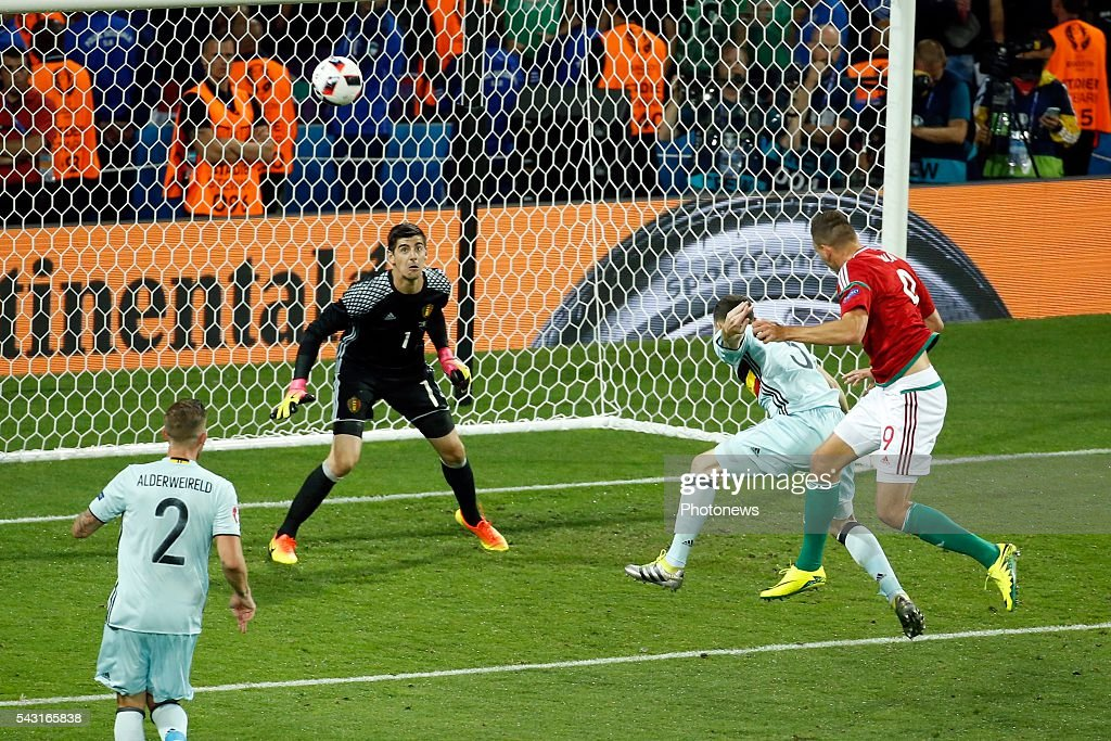 Thibaut Courtois goalkeeper of Belgium during the UEFA EURO 2016 Round of 16 match between Hungary and Belgium at the Stadium Toulouse on June 26, 2016 in Toulouse, France ,