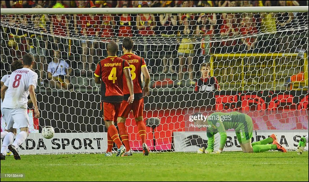 Thibaut Courtois goalkeeper of Club Atletico de Madrid during the FIFA 2014 World Cup Group A qualifying match between Belgium and Serbia at the King Baudouin stadium on June 06, 2013 in Brussels, Belgium.