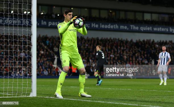 Thibaut Courtois of Chelsea during the Premier League match between West Bromwich Albion and Chelsea at The Hawthorns on May 12 2017 in West Bromwich...