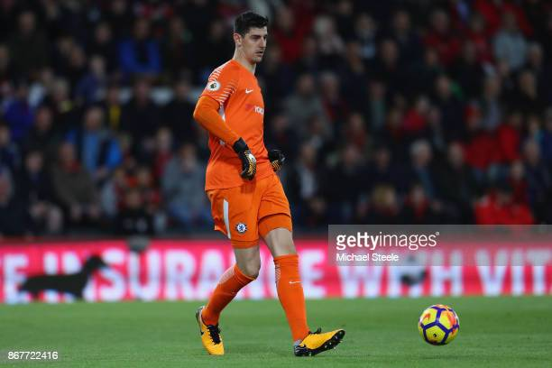 Thibaut Courtois of Chelsea during the Premier League match between AFC Bournemouth and Chelsea at Vitality Stadium on October 28 2017 in Bournemouth...