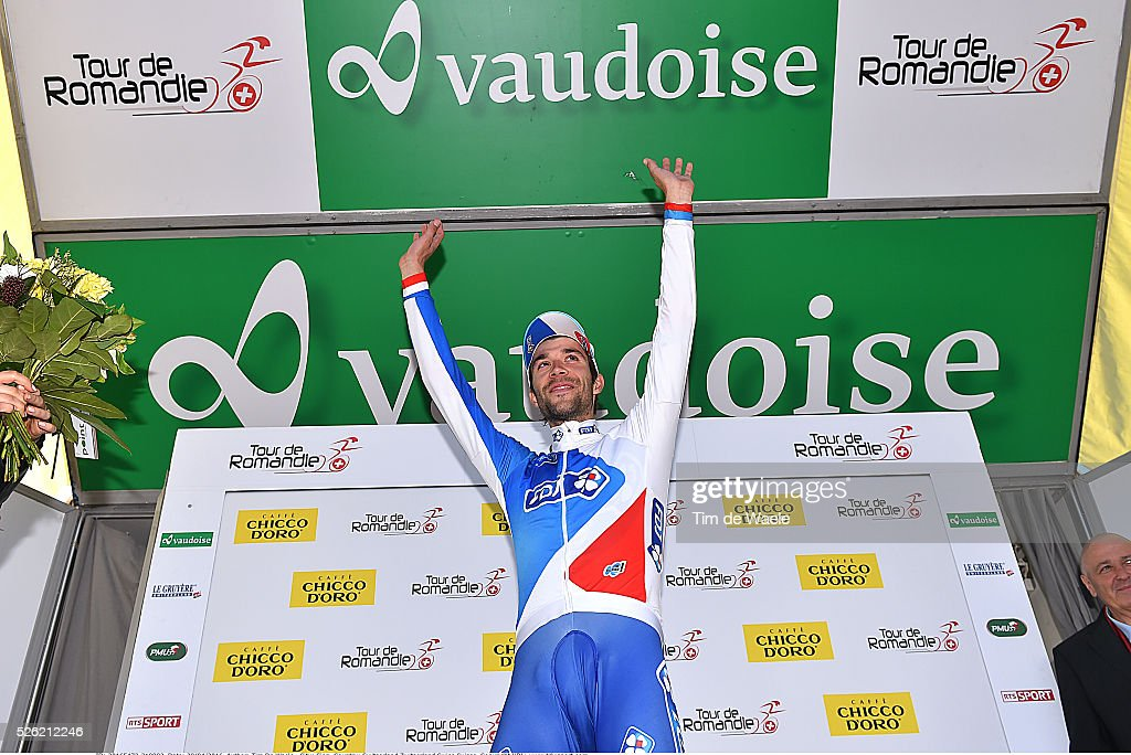 <a gi-track='captionPersonalityLinkClicked' href=/galleries/search?phrase=Thibaut+Pinot&family=editorial&specificpeople=6335753 ng-click='$event.stopPropagation()'>Thibaut Pinot</a> (FRA) after stage 3 of the Tour de Romandie on April 29, 2016 in Sion, Switzerland.