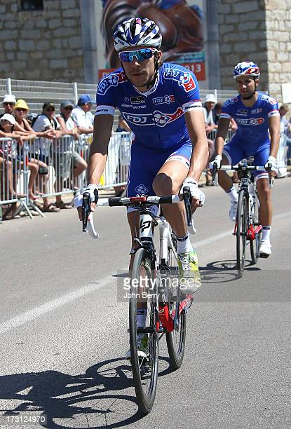 Thibaut Pinot of France and Team FDJFR during Stage One of the Tour de France 2013 the 100th Tour de France a road stage between PortoVecchio and...