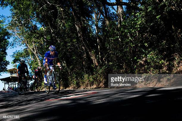 Thibaut Pinot of France competes during the International Road Cycling Challenge test event ahead of the Rio 2016 Olympic Games at Vista Chinesa on...