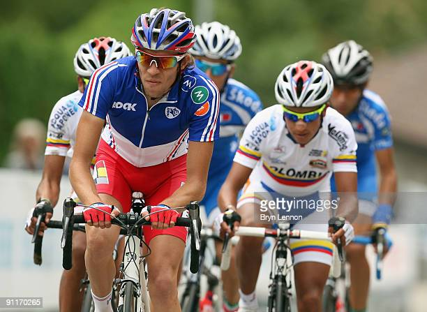 Thibaut Pinot of France in action in the Men's Under 23 Road Race at the 2009 UCI Road World Championships on September 26 2009 in Mendrisio...