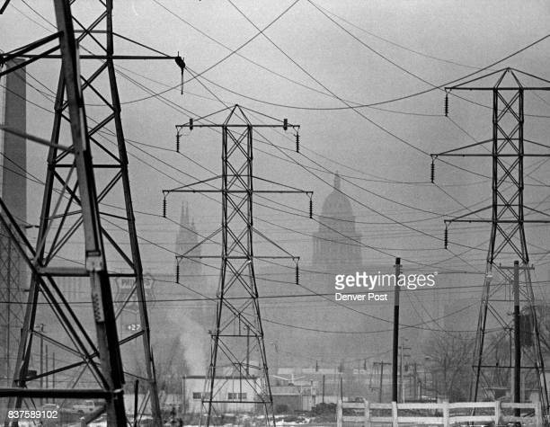 Thick Layer Of Smog Hangs Over Downtown Denver Area In January Of 1973 The car the biggest single poisoner of Denver's air and weather are the major...