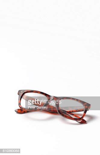 Thick rimmed spectacles with copy space