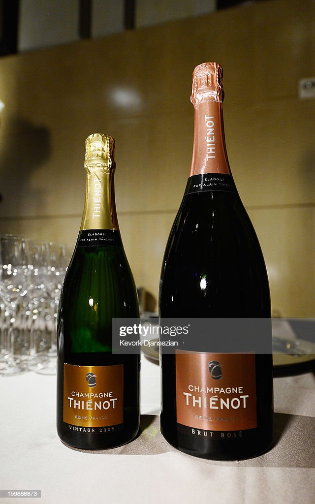 Thienot Brut and Thienot Rose champagnes are on display during a preview of the 85th Academy Awards Governors Ball on January 22, 2013 in Hollywood, California. Academy governor Jeffrey Kurland, event producer Cheryl Cecchetto and Puck will return to create this year's Governors Ball, the Academy's official post-Oscar celebration, which will immediately follow the 85th Academy Awards ceremony on Sunday, February 24. The 1,500 guests include Academy Award winners and nominees, show presenters and other telecast participants.