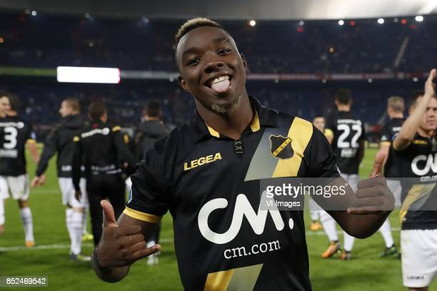 Thierry Ambrose of NAC Breda during the Dutch Eredivisie match between Feyenoord Rotterdam and NAC Breda at the Kuip on September 23 2017 in...
