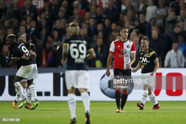 Thierry Ambrose of NAC Breda Manu Garcia of NAC Breda Jose Angelino of NAC Breda Sofyan Amrabat of Feyenoord Giovanni Korte of NAC Breda during the...