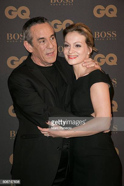 Thierry Ardisson and Audrey CrespoMara attend the 'GQ Men Of The Year Awards 2015' as part of Paris Fashion Week on January 25 2016 in Paris France