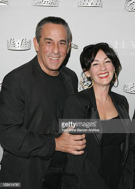 Thierry Ardisson and Beatrice Ardisson attend Chaumet Cocktail Party at Place Vendome on March 8 2010 in Paris France