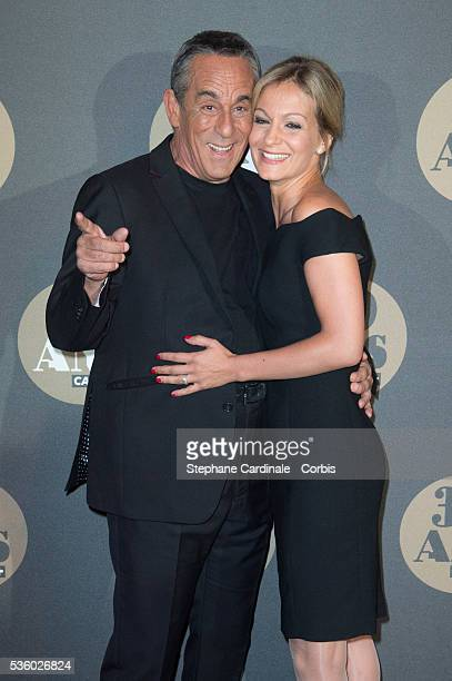 Thierry Ardisson and his Wife Audrey CrespoMara attend the 30 Th Anniversary of Canal at Palais de Tokyo in Paris