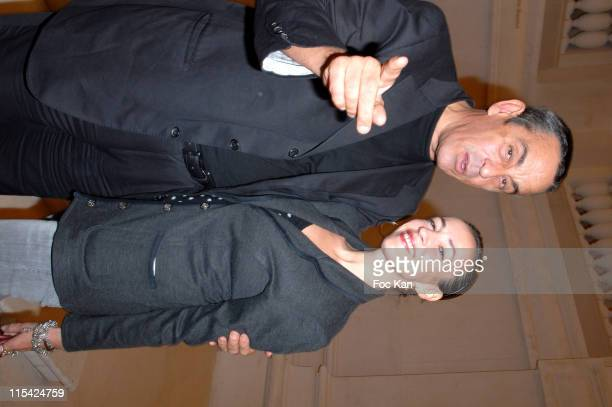 Thierry Ardisson and His Wife Beatrice during Paris Fashion Week Spring/Summer 2007 Francois Henri Pinault PPR Diner Party at Musee Arts Decoratifs...