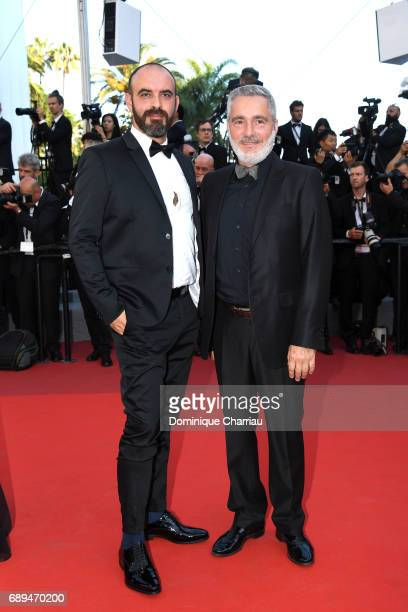 Thierry Borgoltz and a guest attend the Closing Ceremony of the 70th annual Cannes Film Festival at Palais des Festivals on May 28 2017 in Cannes...