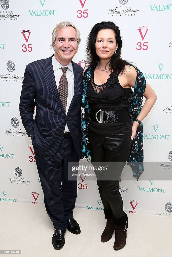 Thierry Chaunu and Maria Di Angelis attend the V35 Valmont SPA Launch Event at Plaza Athenee on January 30, 2013 in New York City.