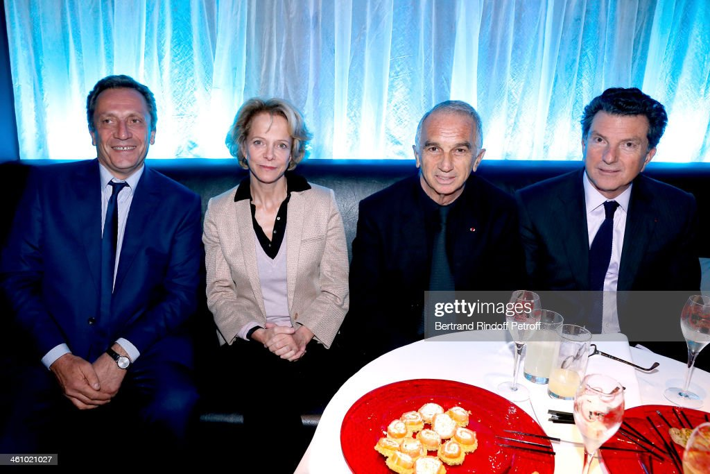Thierry de Segonzac, President of CNC Frederique Bredin, President of the 'Cesar', the French Academy Awards Alain Terzian and CEO of Audiens Patrick Bezier attend 'Cesar et Techniques 2014' Award Ceremony at Club Haussmann on January 6, 2014 in Paris, France.