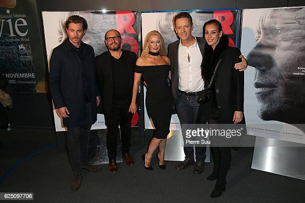Thierry DemaiziereAlban TeurlaiRocco Siffredi and Rosa Caracciolo attends the Premiere of 'Rocco' at UGC Cine Cite des Halles on November 22 2016 in...
