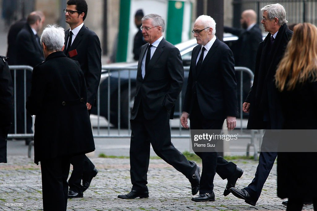 Memorial Service For Christophe De Margerie, Total CEO At Saint Sulpice Church in Paris.