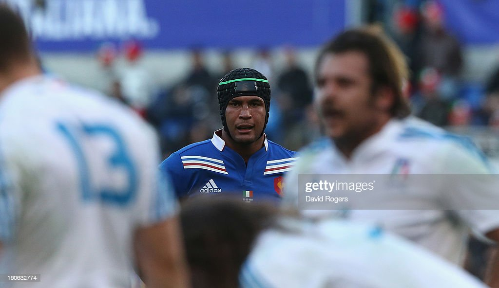 Thierry Dusatoir of France looks on during the RBS Six Nations match between Italy and France at Stadio Olimpico on February 3, 2013 in Rome, Italy.