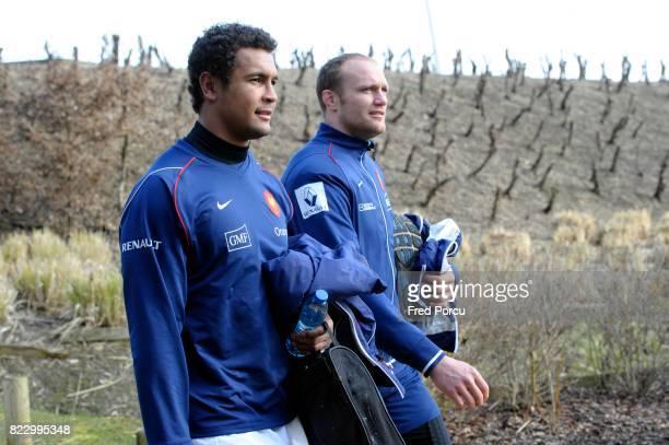 Thierry DUSAUTOIR / Julien BONNAIRE Entrainement Equipe de France avant Angleterre/France CNR Marcoussis