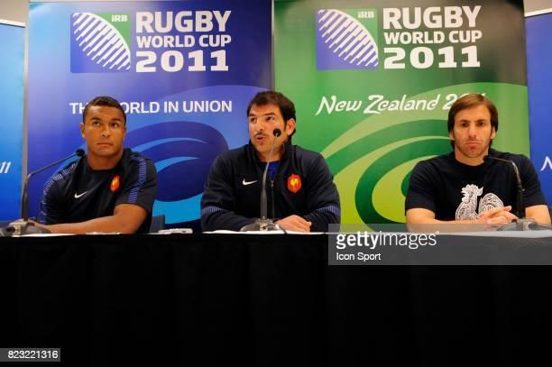 Thierry DUSAUTOIR / Marc LIEVREMONT / Gonzalo Quesada Conference de presse France Coupe du Monde de Rugby 2011 Auckland