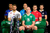 Thierry Dusautoir of France Chris Robshaw of England Sergio Parisse of Italy Paul O'Connell of Ireland Sam Warburton of Wales and Greig Laidlaw of...