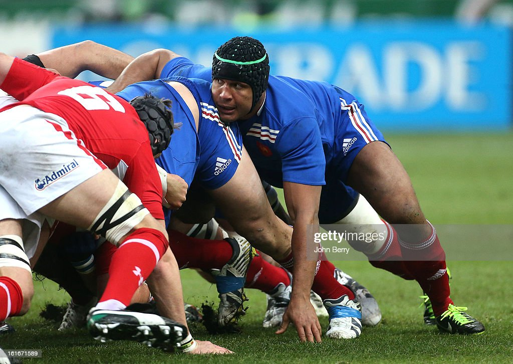 Thierry Dusautoir of France in action during the 6 Nations match between France and Wales at the Stade de France on February 9, 2013 in Paris, France.