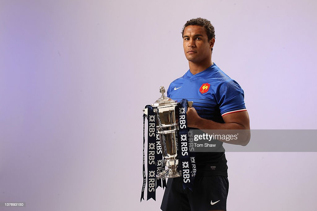 <a gi-track='captionPersonalityLinkClicked' href=/galleries/search?phrase=Thierry+Dusautoir&family=editorial&specificpeople=544025 ng-click='$event.stopPropagation()'>Thierry Dusautoir</a> of France poses with the RBS Six Nations trophy during the RBS Six Nations Launch at The Hurlingham Club on January 25, 2012 in London, England.