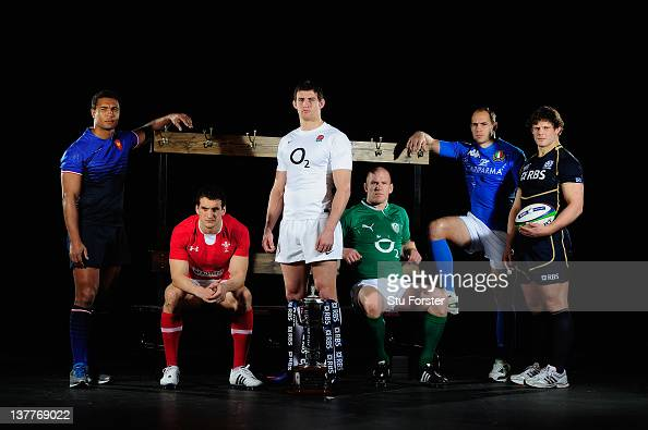 Thierry Dusautoir of France Sam Warburton of Wales Tom Wood of England Paul O'Connell of Ireland Sergio Parisse of Italy and Ross Ford of Scotland...