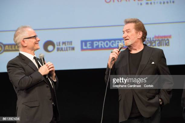 Thierry Fremaux and Eddy Mitchell attend the Opening Ceremony of the 9th Film Festival Lumiere on October 14 2017 in Lyon France