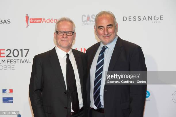 Thierry Fremaux and Georges Kepenekian attend the Opening Ceremony of the 9th Film Festival Lumiere on October 14 2017 in Lyon France