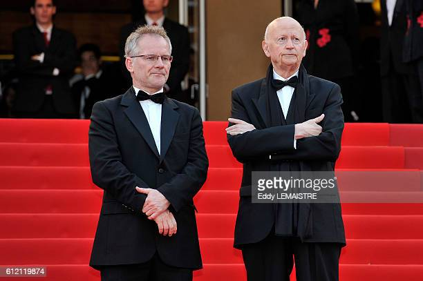 Thierry Fremaux and Gilles Jacob at the premiere of Poetry during the 63rd Cannes International Film Festival