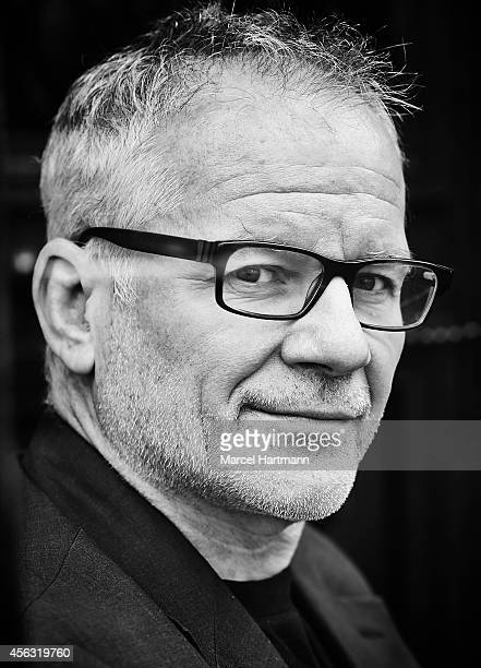 Thierry Fremaux is photographed for Le Film Francais on September 23 2014 in Paris France