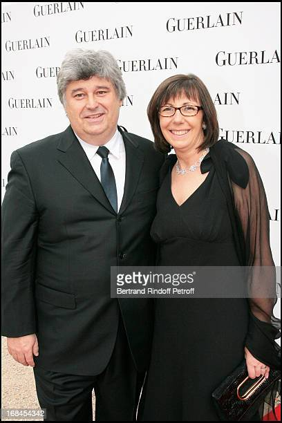 Thierry Fritsch CEO of Chaumet and his wife at Guerlain Celebrates Its 180th Anniversary With The Launch Of New Men's Fragrance At Rodin Museum