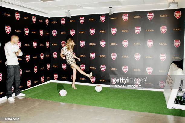 Thierry Henry and Gisele Bundchen during 'Arsenal Football Club' and 'Ebel' Launch Partnership Photocall June 19 2007 at The Hospital in London Great...