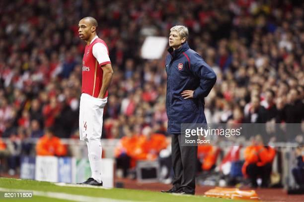 Thierry HENRY / Arsene WENGER Arsenal / Psv eindhoven 8e de finale Champions League
