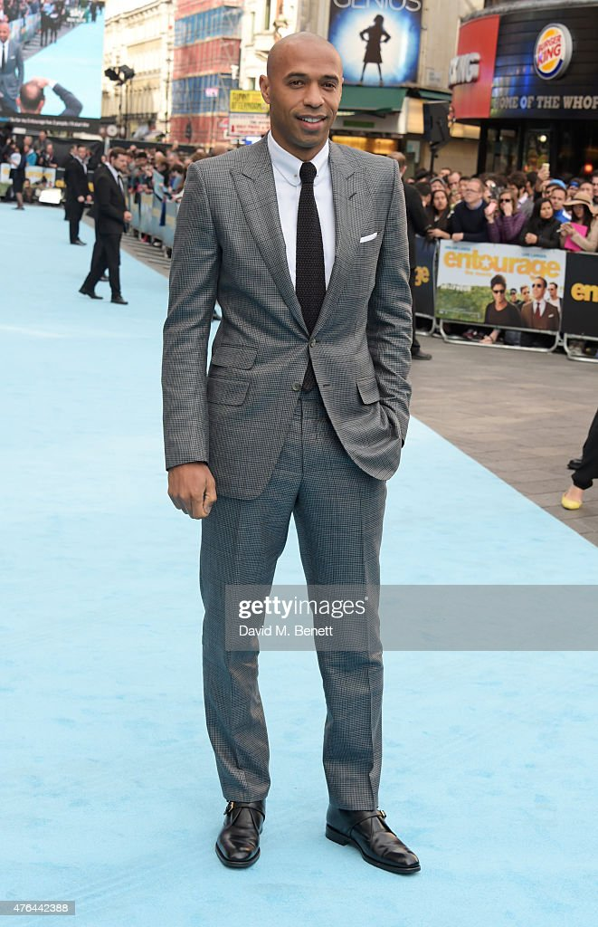 Thierry Henry attends the European Premiere of 'Entourage' at the Vue West End on June 9, 2015 in London, England.