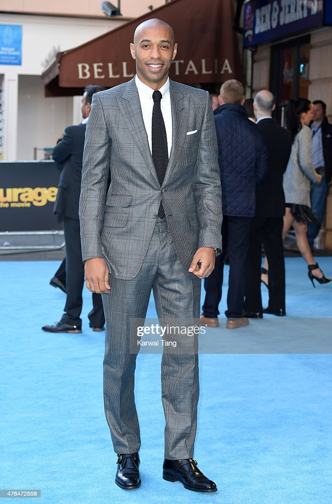 <a gi-track='captionPersonalityLinkClicked' href=/galleries/search?phrase=Thierry+Henry&family=editorial&specificpeople=167275 ng-click='$event.stopPropagation()'>Thierry Henry</a> attends the European Premiere of 'Entourage' at Vue West End on June 9, 2015 in London, England.