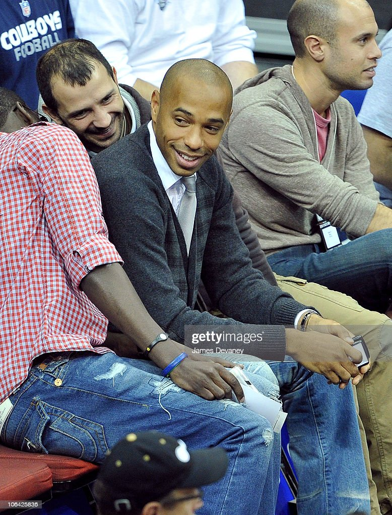 <a gi-track='captionPersonalityLinkClicked' href=/galleries/search?phrase=Thierry+Henry&family=editorial&specificpeople=167275 ng-click='$event.stopPropagation()'>Thierry Henry</a> attends the Miami Heat vs NJ Nets Game at Prudential Center on October 31, 2010 in Newark City.